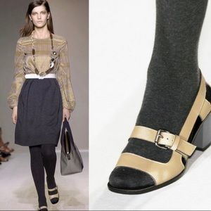 Marni Peep Toe Sling Back Buckle Block Heel Shoe